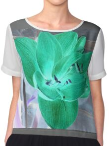 Green Amaryllis Chiffon Top