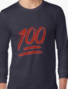 100 Emoji Logo Long Sleeve T-Shirt
