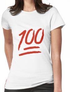 100 Emoji Logo Womens Fitted T-Shirt