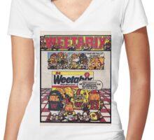 Weetabix advert 2 Women's Fitted V-Neck T-Shirt