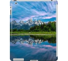 Teton Mountains in Wyoming with Clouds and Reflection iPad Case/Skin