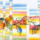 Collage with Vines and Leaves by Dana Roper