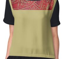 Block Print with Gold Chiffon Top