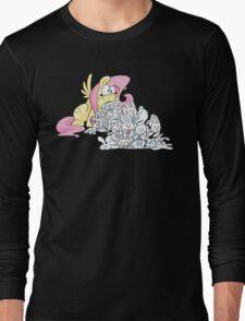 Fluttershy Barfing Bunnies Long Sleeve T-Shirt