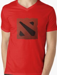 dota 2 logo Mens V-Neck T-Shirt