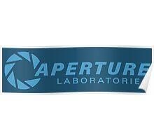 aperture laboratories - light blue Poster