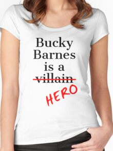 Bucky Barnes is a Hero Women's Fitted Scoop T-Shirt