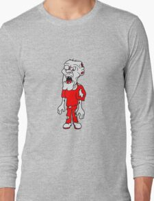 böse gefährlich fleisch fressen opa mann zombie lustig untot horror monster halloween  Long Sleeve T-Shirt