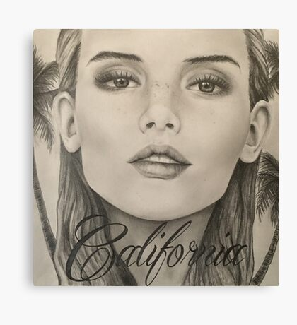California- Pencil Portrait Canvas Print