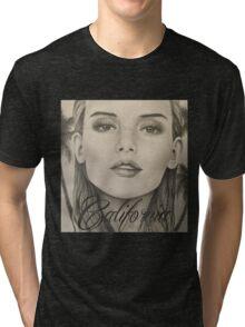 California- Pencil Portrait Tri-blend T-Shirt