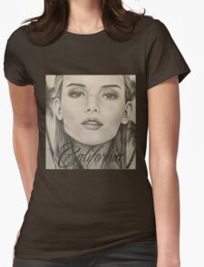 California- Pencil Portrait Womens Fitted T-Shirt