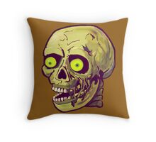 decaying zombie Throw Pillow