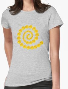 Daisy Mix - Yellow and Pink Womens Fitted T-Shirt