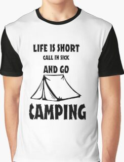 Go Camping Tent - Light  Graphic T-Shirt