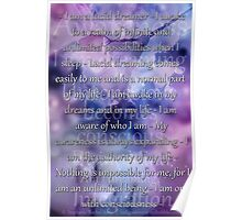Lucid Dreaming Affirmations Poster
