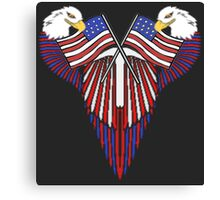 Patriotic wing shield +flags Canvas Print
