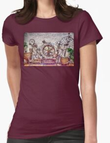 Steampunk Water Way Womens Fitted T-Shirt