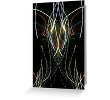Neon Abstract One Greeting Card