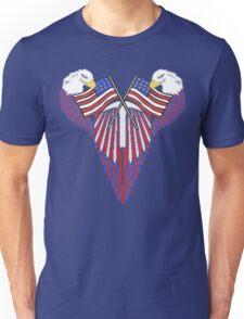 Patriotic wing shield +flags Unisex T-Shirt