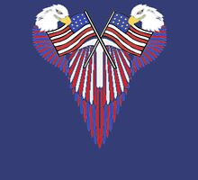 Patriotic wing shield +flags Mens V-Neck T-Shirt