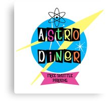 Astro Diner sign Canvas Print