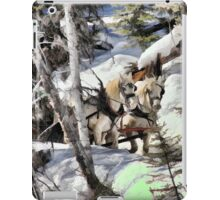 Horses in the Winter iPad Case/Skin
