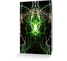 Neon Abstract Four Greeting Card
