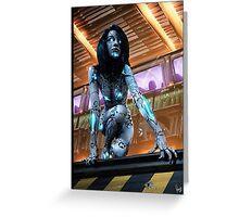 Cyberpunk Painting 075 Greeting Card