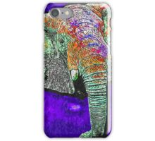 Elephant of a different color iPhone Case/Skin