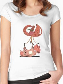 Cradle-Lily for a Vulpix. Women's Fitted Scoop T-Shirt