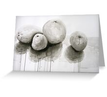 Fruit in India Ink Greeting Card