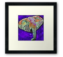 Elephant of a different color Framed Print