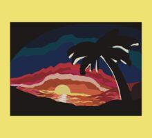 Tropical Sundown Kids Tee