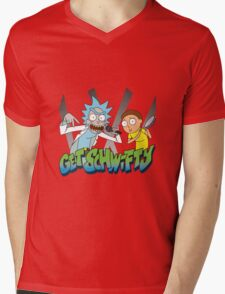 Rick And Morty - Get Schwifty Mens V-Neck T-Shirt