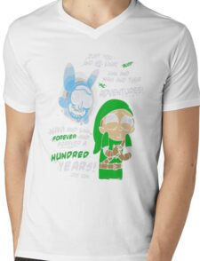 Rick And Morty - Just You And Me Link And Navi And Their Adventures Mens V-Neck T-Shirt