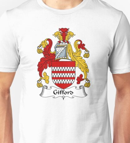 Gifford Coat of Arms / Gifford Family Crest Unisex T-Shirt