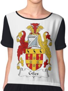Giles Coat of Arms / Giles Family Crest Chiffon Top