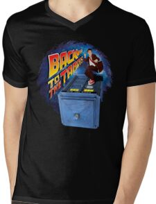 Time and Space Surfer Mens V-Neck T-Shirt