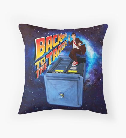 Time and Space Surfer Throw Pillow
