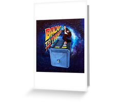 Time and Space Surfer Greeting Card