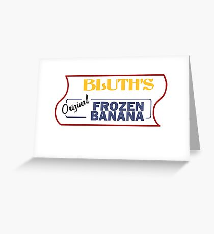 Bluth's Original Frozen Banana Stand Greeting Card