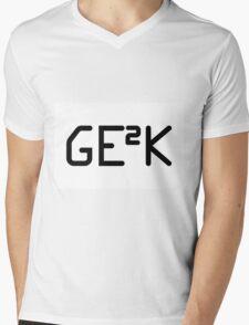 Geek squared. Mens V-Neck T-Shirt