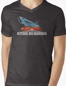 Star Blazers Mens V-Neck T-Shirt