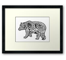 Polar Bear Zentangle Framed Print