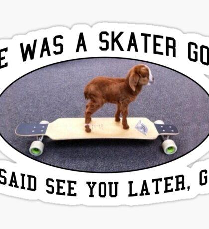 Skater Goat Sticker