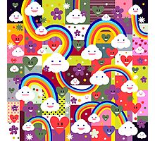 Happy Clouds and Rainbows Photographic Print