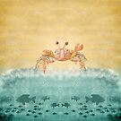 Crab Watercolor Abstract by T-ShirtsGifts