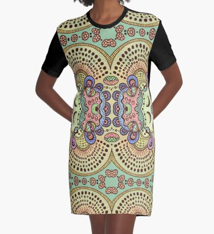 Spring Pastels Graphic T-Shirt Dress