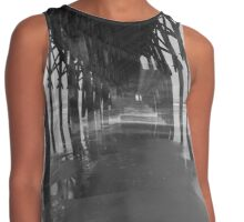 Under the Pier and Beach in Black and White Contrast Tank