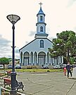 Church of Our Lady of Sorrows, Dalcahue by Graeme  Hyde